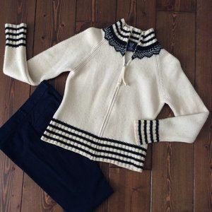 2/$40: GAP M 100% Lambswool Nordic Knit Sweater/Jacket